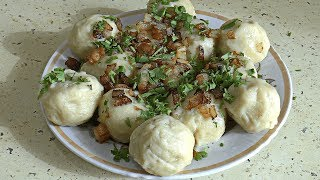 Кнедлики с мясом / Dumplings with meat