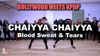 BOLLYWOOD X KPOP | Chaiyya Chaiyya | Dil Se | Blood Sweat & Tears | BTS | SAgrooves Choreography