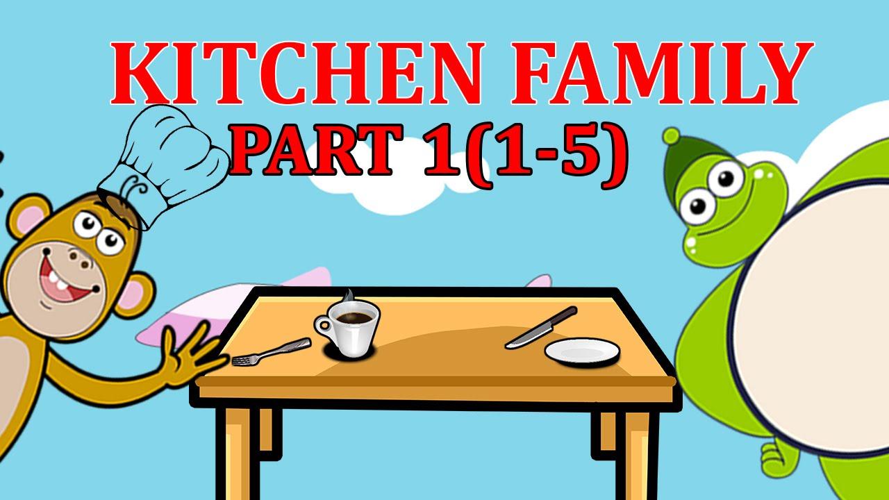 Finger Family KITCHEN Songs For Children | Daddy Finger Cartoon ...