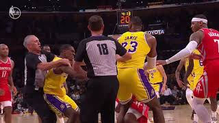 Rockets vs Lakers fight with Chris Paul, Rajon Rondo and Brandon Ingram ejected   NBA Highlights