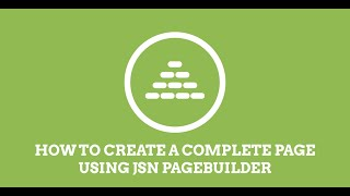 JSN PageBuilder | How to build a Joomla! page