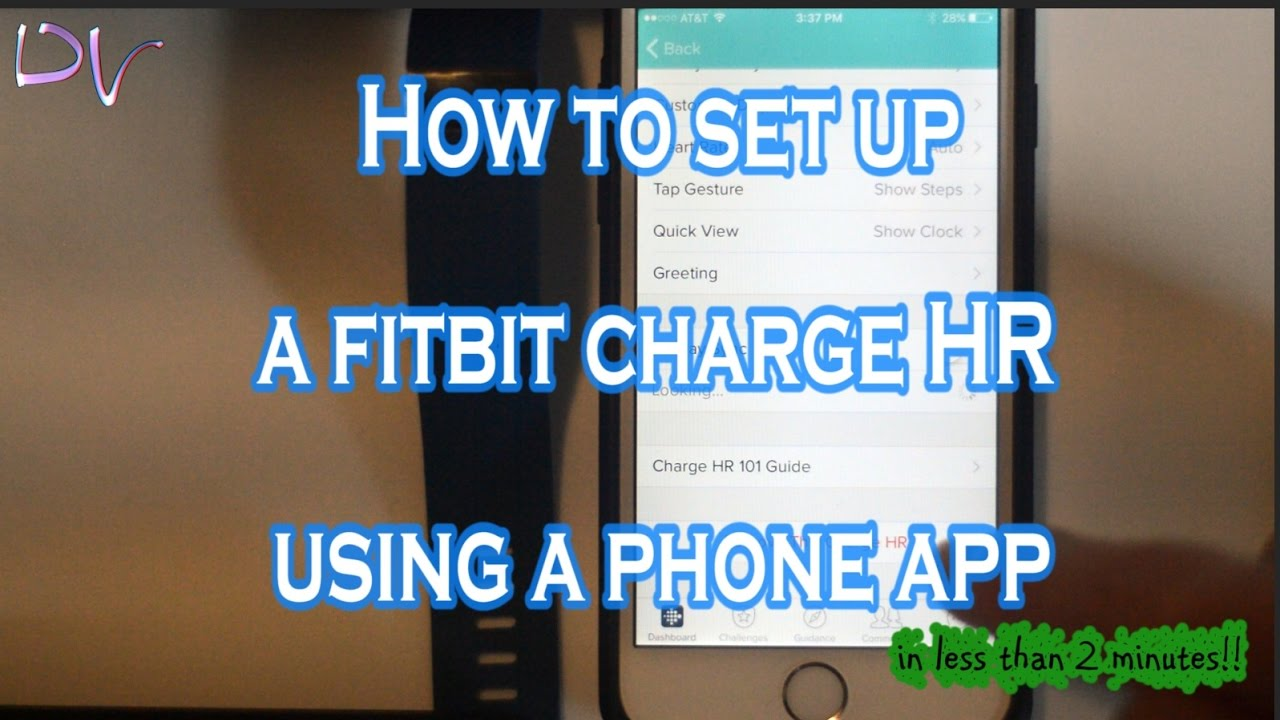 fitbit charge 2 setup manual