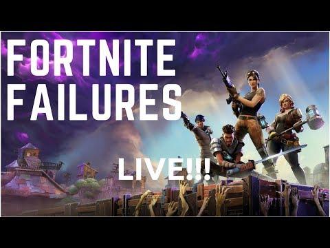 LIVE AGAIN!! || Fortnite Failures Live