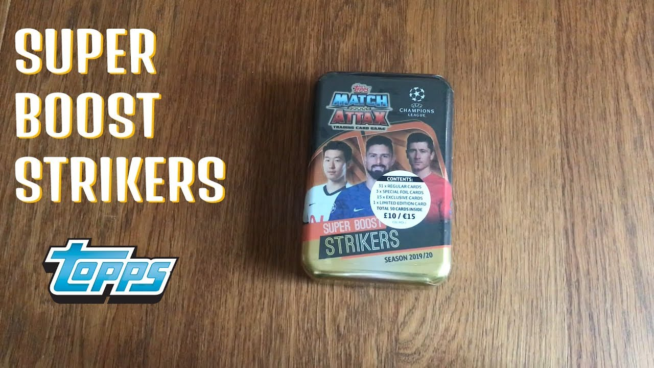 Mega Tin 2020 Card List.Super Boost Strikers Mega Tin Match Attax Champions 19 20 2019 2020