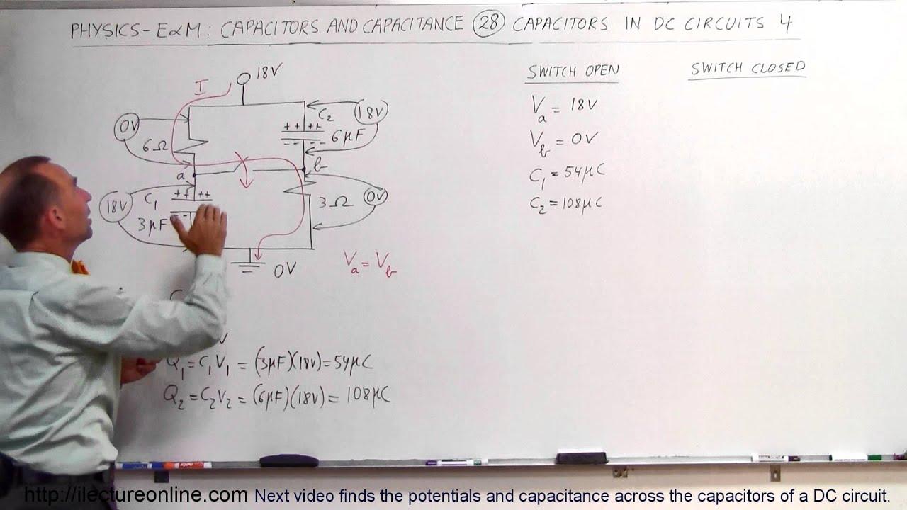 Physics - E&M: Capacitors & Capacitance (28 of 37) V=? C=? in DC ...