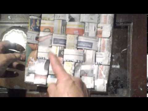 Individuales en papel peri dico youtube - Papel de vinilo para cocinas ...