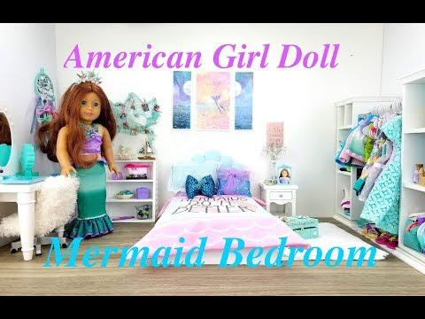American Girl Doll Mermaid Bedroom Set Up