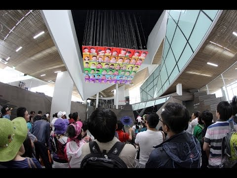 The future of TV - LG Media Chandelier: Kinetic Multimedia Art. World Expo, Yeosu, South Korea
