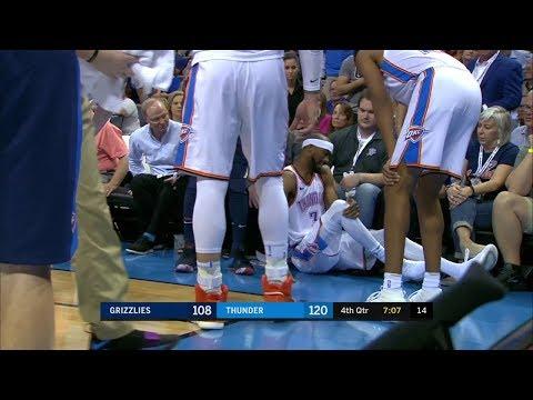 Corey Brewer Injury in the Fourth Qtr | Grizzlies vs Thunder | April 11, 2018 | 2017-18 NBA Season