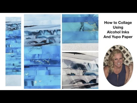 (31) How To Create an Abstract Beach with Yupo Paper and Alcohol Inks