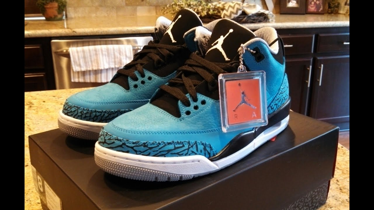 Air Jordan 3 Retro Powder Blue on Feet - YouTube 176eca4cf