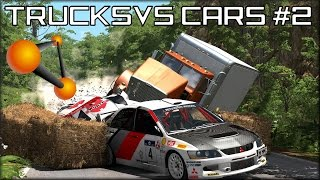 BeamNG Drive Trucks Vs Cars #2