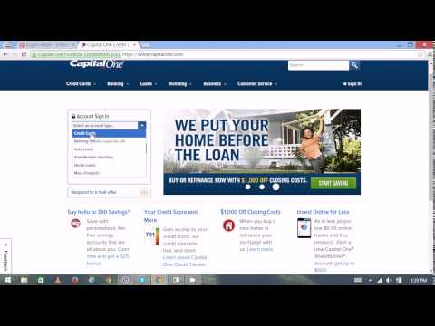 Capital One Online Banking Login / Sign In - Capital One Credit Card | Login / Sign In