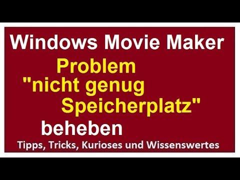 Movie Maker Speichert Nicht