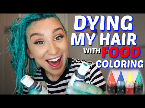 DYING MY HAIR WITH FOOD COLORING *hair hack*