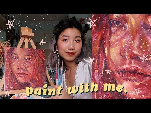 🌷PAINT WITH ME 🌷// a small art chit chat