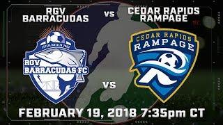 RGV Barracudas vs Cedar Rapids Rampage