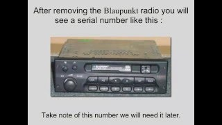 Blaupunkt Car 300 Radio Code