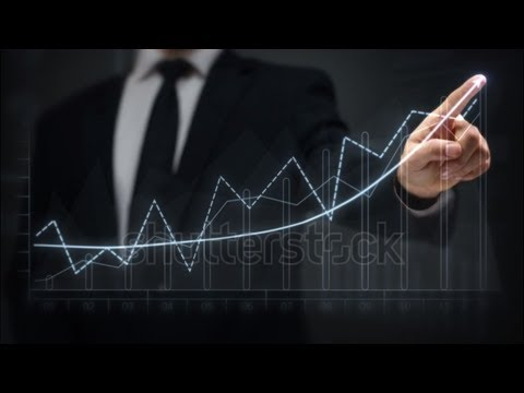stock footage businessman drawing an ascending financial chart