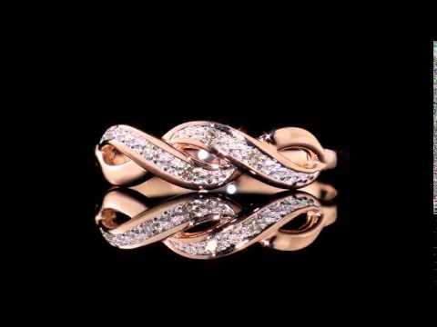 Infinity Diamond Promise Ring in 10K Rose Gold - YouTube