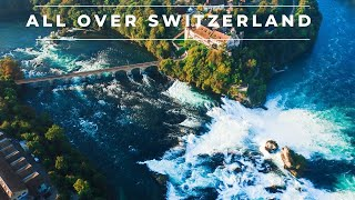 Beautiful Switzerland by drone in 4k Part 2 | Aerial footage of famous places in Switzerland