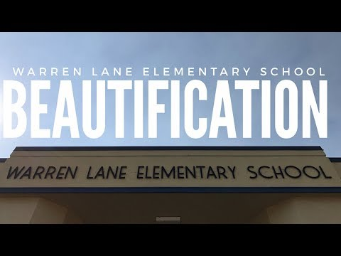 Warren Lane Elementary School Beautification Day