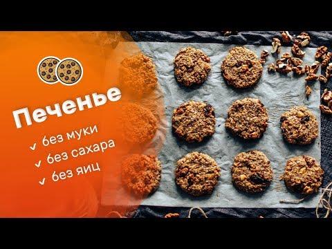 Печенье без муки, сахара и яиц. Диетический  ПП перекус с секретом.