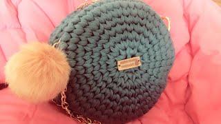 شنطة دائرية بخيط الكليم الجزء الاول. / كروشية Crochet