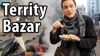 Territy Bazar - AMAZING Chinese Indian Street Food Market in Kolkata