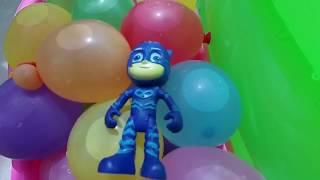 #learncolors with Pj Masks pijamaskeliler balonla renkler şarkısını söylüyor Romeo yine iş başında