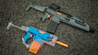 Modified Nerf Stryfes | KRISS Vector & XM8L Body Kits