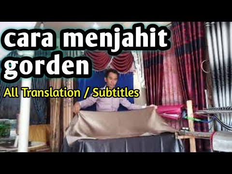 TUTORIAL Cara Menjahit Horden Gorden Gordyn Hordeng