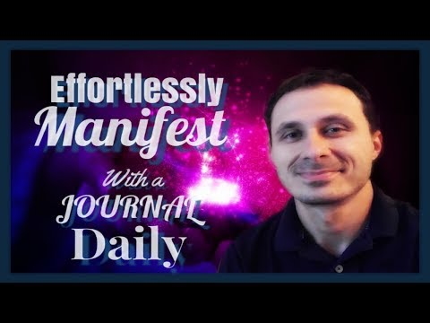 Effortlessly manifest with a daily journal!