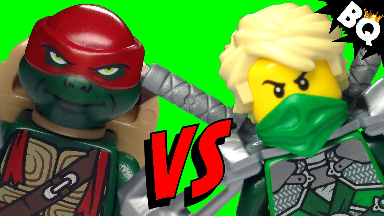 Lego ninja turtles tmnt vs lego ninjago ninja battle brickqueen youtube - Ninjago vs ninjago ...