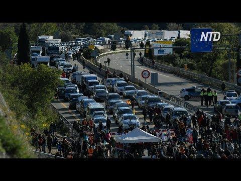 Каталонцы перекрыли шоссе на испано-французской границе