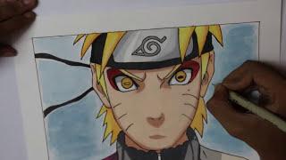 Drawing Naruto Sage Mode | Naruto Shippuden (Time-Lapse)