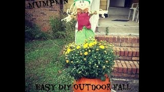 Easy Diy Outdoor Fall Decor| Mumpkin