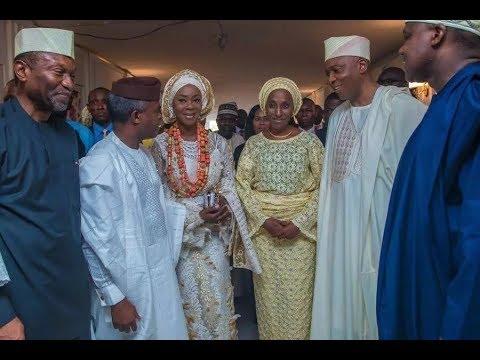 Vice President, Dangote, comedian AY storm Bukola Saraki daughter's wedding in Lagos