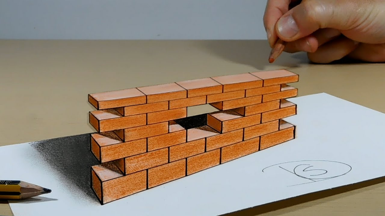 The Wall Try To Do 3d Trick Art On Paper Youtube