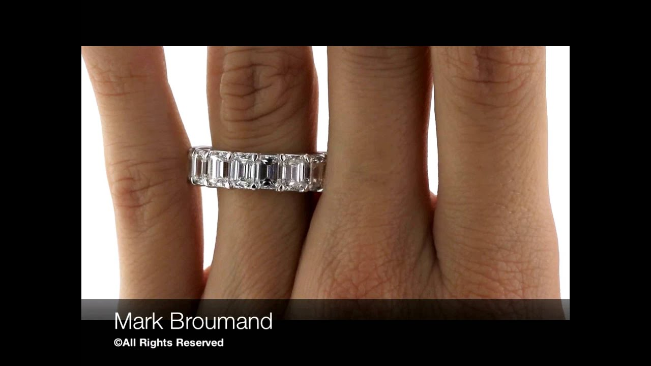 cut emerald platinum ct eternity carat diamond products band in benzdiamonds bands