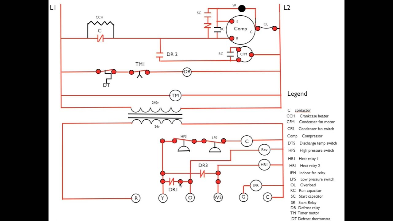 Heat pump diagram #3 Call for defrost sequence  YouTube