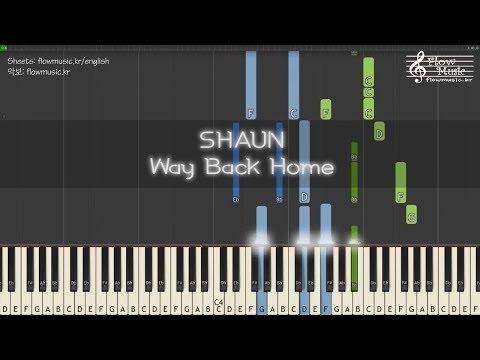 숀 (SHAUN) - Way Back Home Piano Tutorial 피아노 배우기