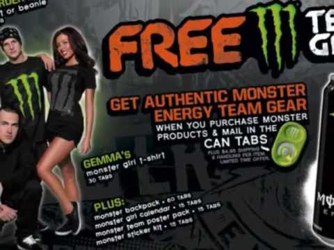 How to: Get Free Monster Energy Drink Gear - YouTube
