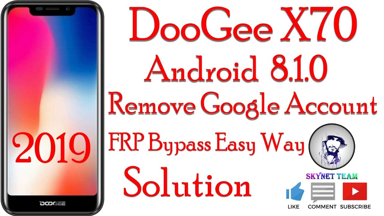 DooGee X70 Android 8.1.0 Oreo Remove Google Account  FRP Bypass Easy Way