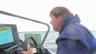 DWC start 2nd day in the 219 Yar-craft on lake Sakakawea.