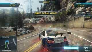 "NFS Most Wanted 2012: ""Sidewinder"" Drift Attack Event 5,590 SP - BMW M3 GTR Semi-Full Pro Mods"