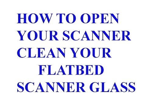 Clean Inside Flatbed Scanner Glass Dust Removal