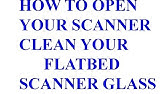 Disassembling HP Scanjet 3800 for cleaning glass - YouTube