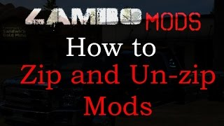 Farming Simulator 17 | How to Zip and Un-zip mods Properly with FREE SOFTWARE