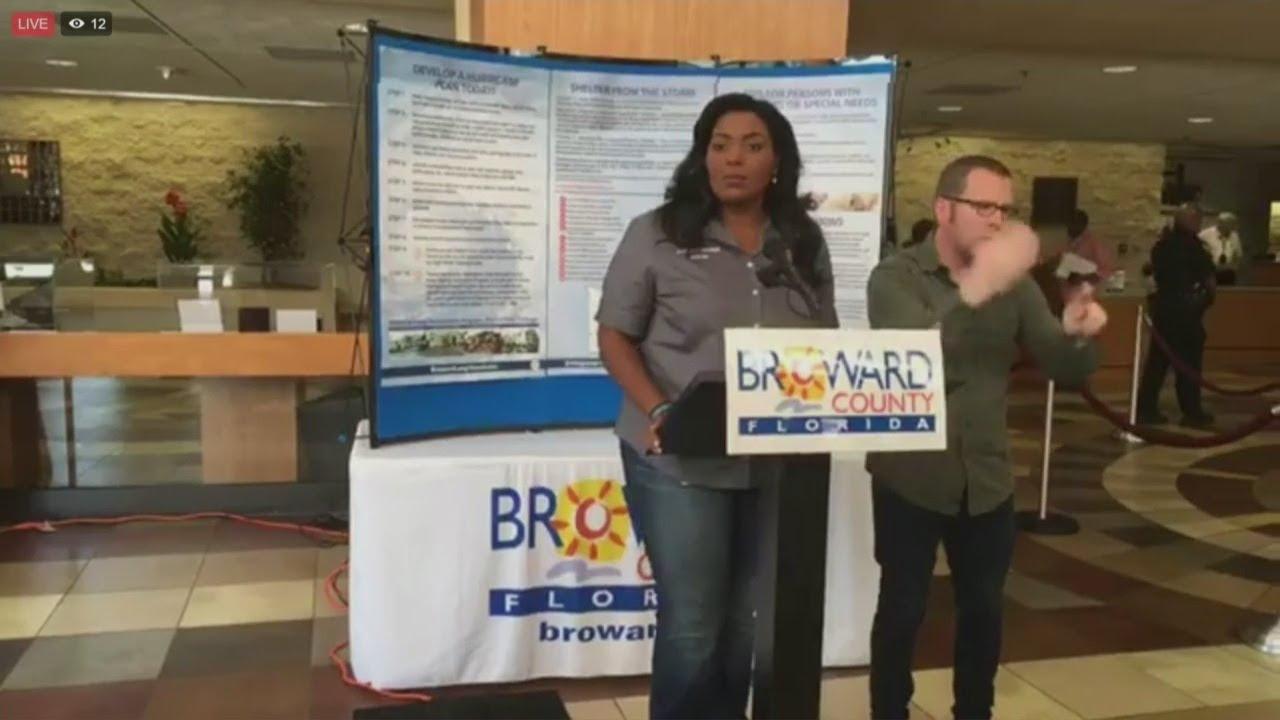 Broward Talks  >> Be Prepared No Panicked Broward Mayor Talks Hurricane Irma Preps